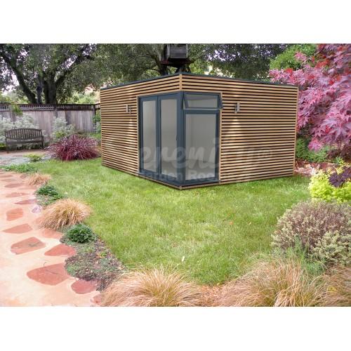 16' x 12' Cube Horizontal Shadow gap cladding with corner doors/windows