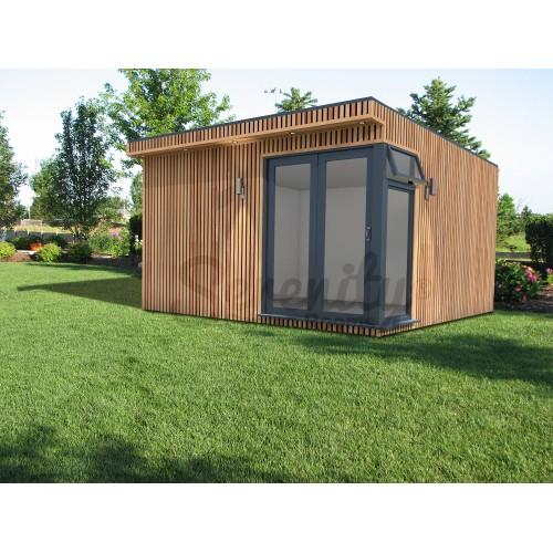 4 x 4 m Canopy Vertical Shadow gap cladding with corner doors/window