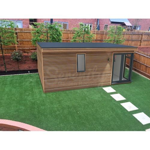 6 x 4 m Canopy Horizontal Shadow gap cladding with corner doors/window